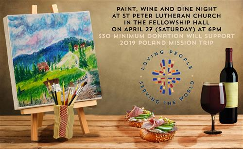 Paint, Wine, & Dine Night!